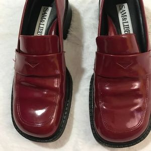 Sam &b Libby Red Patent Leather Penny Loafers 6M